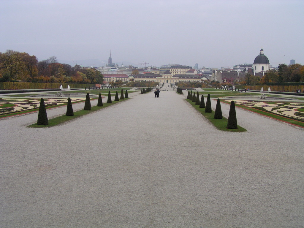 Aussicht auf Wien vom oberen Schloss Belvedere