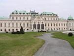 Aussicht auf unteres Schloss Belvedere